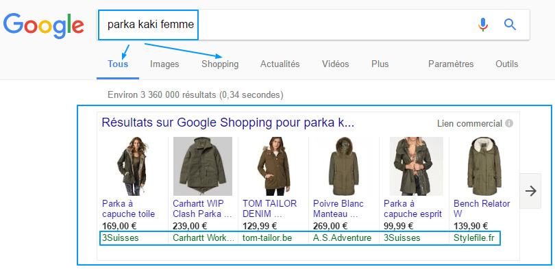 Femme recherche google