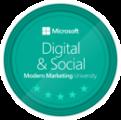 Microsoft Modern Marketing University Digital & Social Badge Hugues Villeret