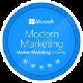 Microsoft Modern Marketing University Badge Hugues Villeret
