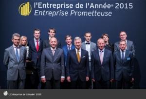 Universem, finaliste de l'entreprise prometteuse de l'année 2015.